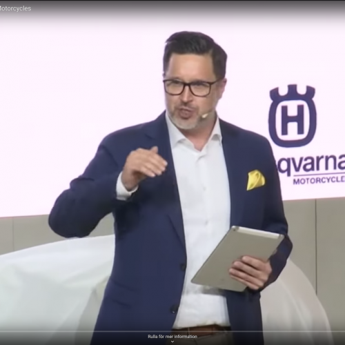 Moderator Husqvarna motorcycles, EICMA (english)